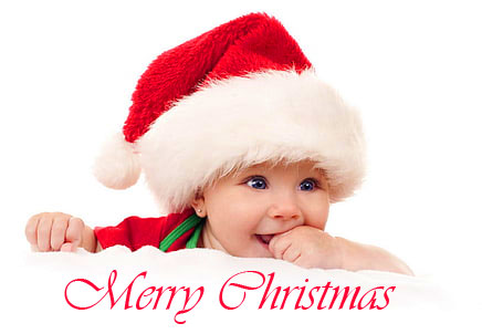 Lovely Baby Merry Christmas Image