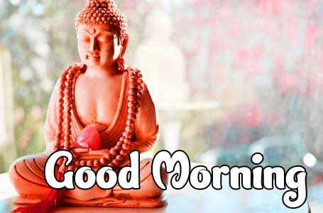 Lovely Colourful Buddha with Good morning Image