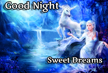Lovely Horse in Moon Light with Good Night Wishing