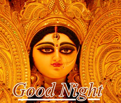 Lovely Maa Durga Image with Good Night Message Copy