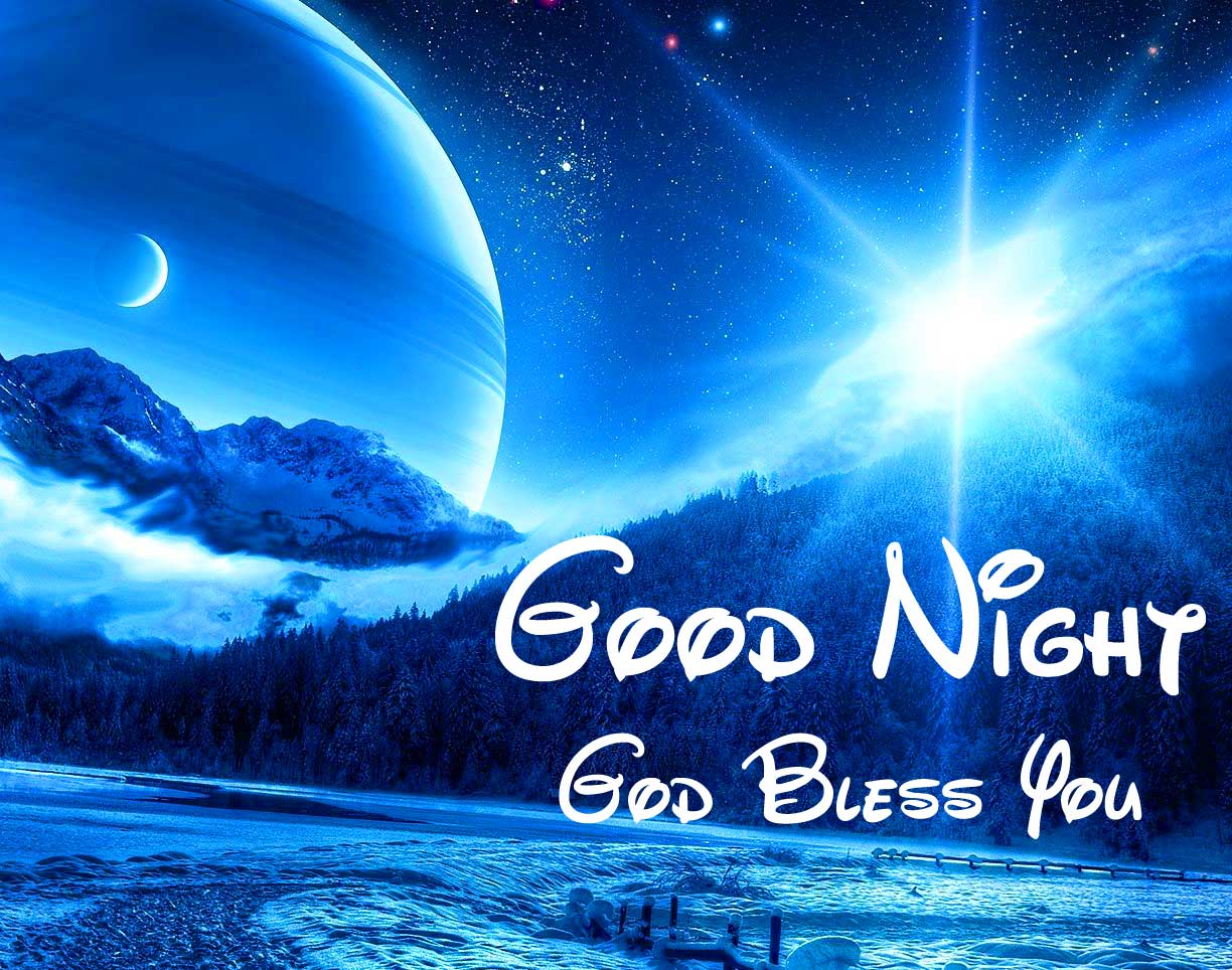 Lovely Night Scenery with Good Night Greeting