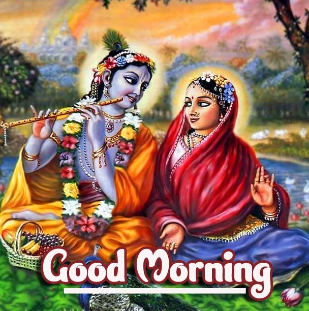 Lovely Radha and Good Morning Image HD