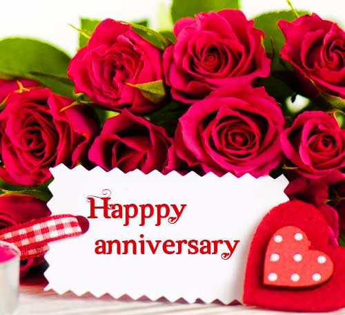 Lovely Roses with Happpy Anniversary Wish