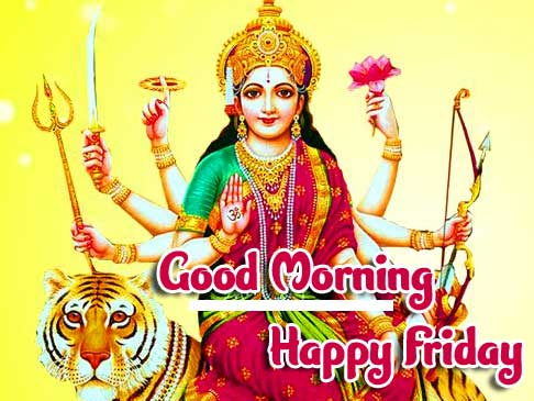 Lovely and Beautiful Good Morning Greeting with Durga Maa Photo HD