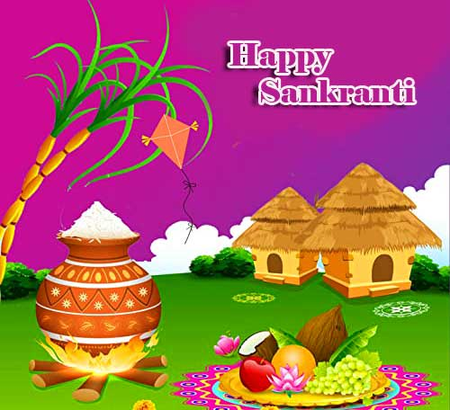 Lovely and Traditional Happy Sankranti Image