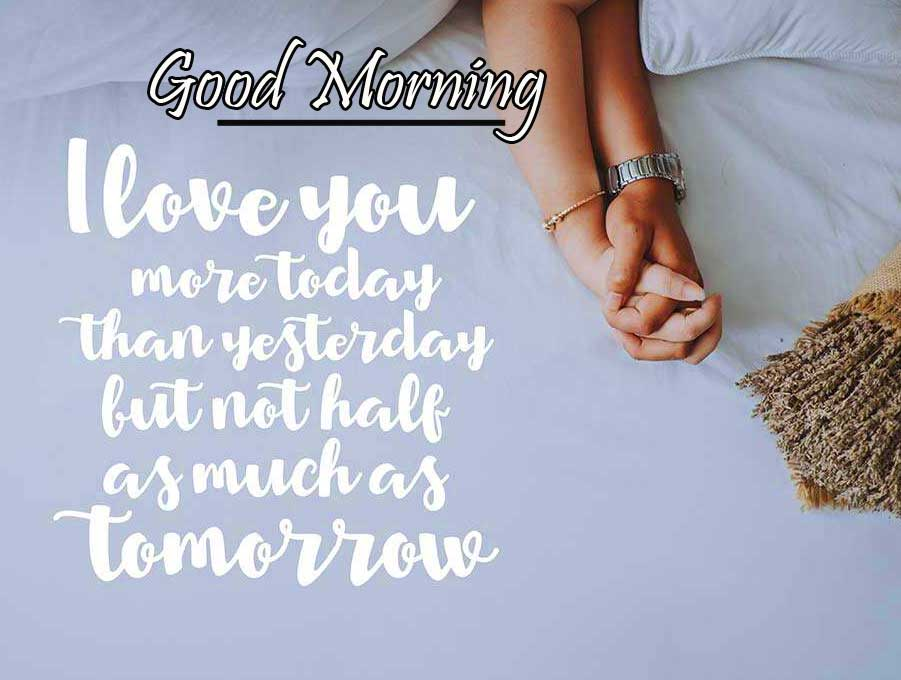 Lover Hands with Good Morning Wish