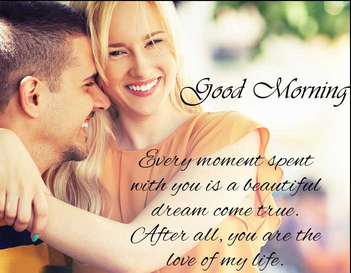 Loving Quote for Wife with Good Morning Wishing Copy