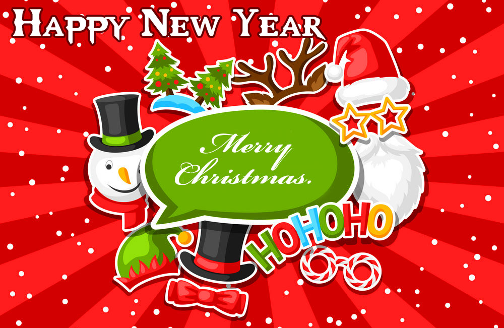 Merry Christmas and Happy New Year Card Image