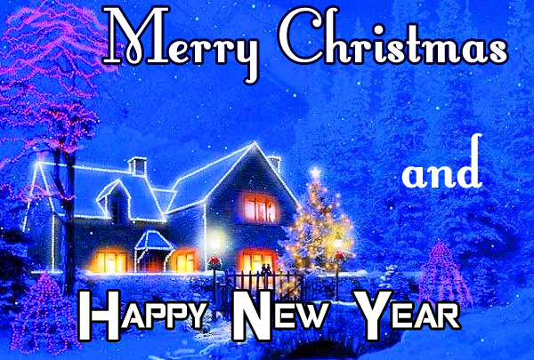Merry Christmas and Happy New Year Wish Wallpaper