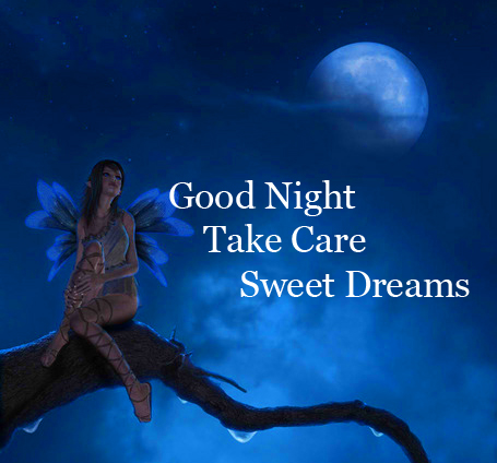Moonlight Image with Good Night Wishing
