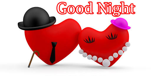 Mr and Mrs Heart with Good Night Wishing