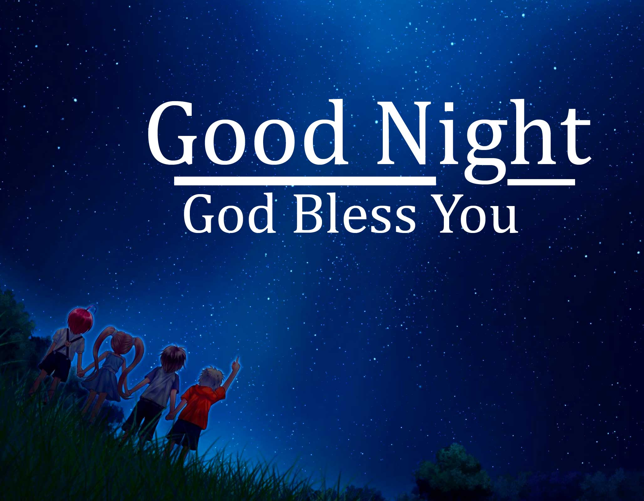 Night Sky with Animals Picture and Good Night Wishing