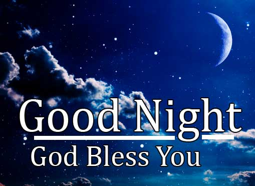 Night Sky with Stars and Good Night Message