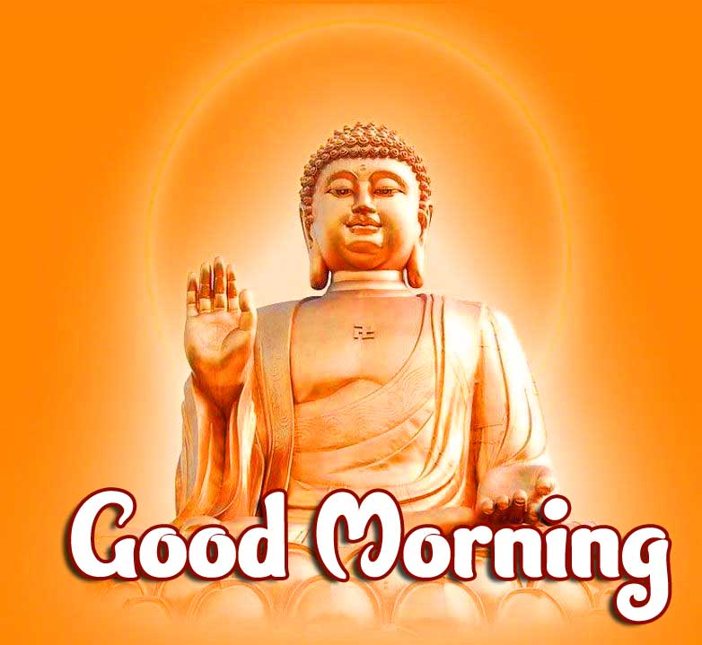 Orange Buddha Good Morning Image