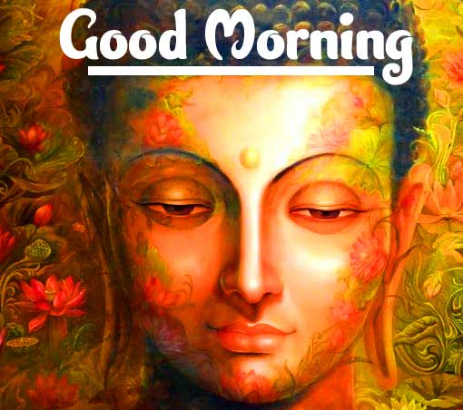 Painting od Buddha with Good Morning Wishing