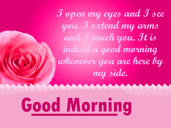 Pink Quoted Good Morning Image