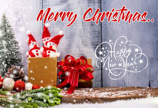 Present Merry Christmas and Happy New Year Image