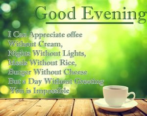 Quoted Good Evening Coffee Image