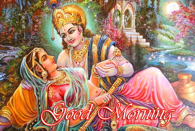 Radha Krishna Good Morning Wallpaper