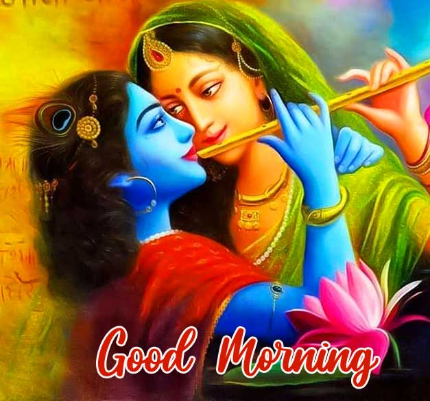 Radha and Krishna Good Morning Image