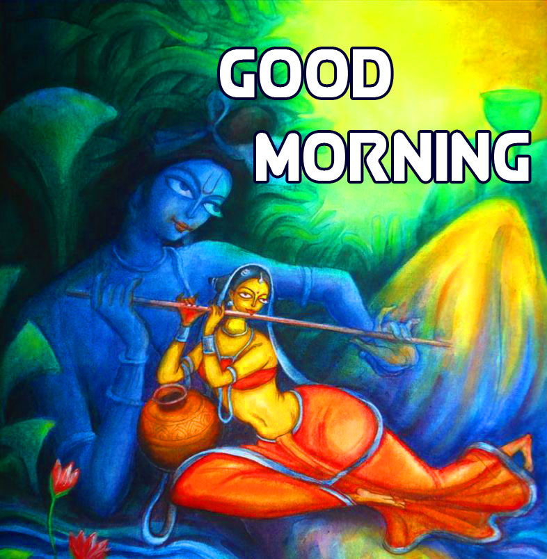 Radha and Krishna Good Morning Image Full HD