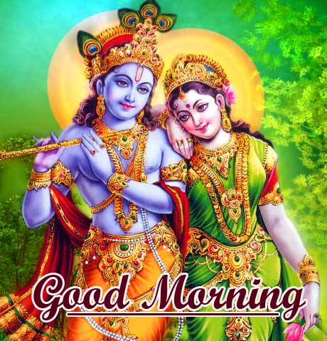 Radha and Krishna Good Morning Pic