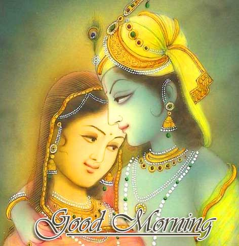 Radha and Krishna Good Morning Picture