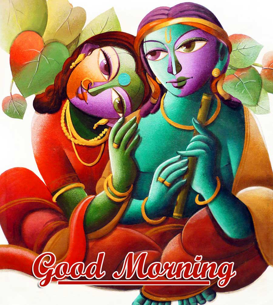 Radha and Krishna Good Morning Wish