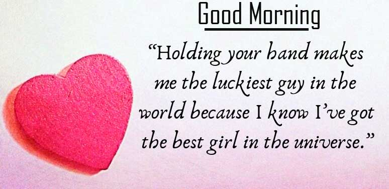 Red Heart Good Morning Wish with Quote Copy