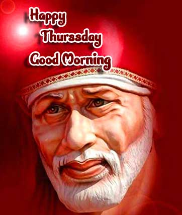 Red Sai Baba Good Morning Picture