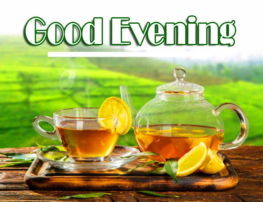 Red Tea with Good Evening Wishing