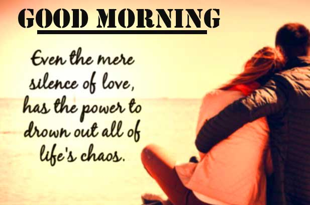 Romantic Love Quote with Good Morning Wishing for Him
