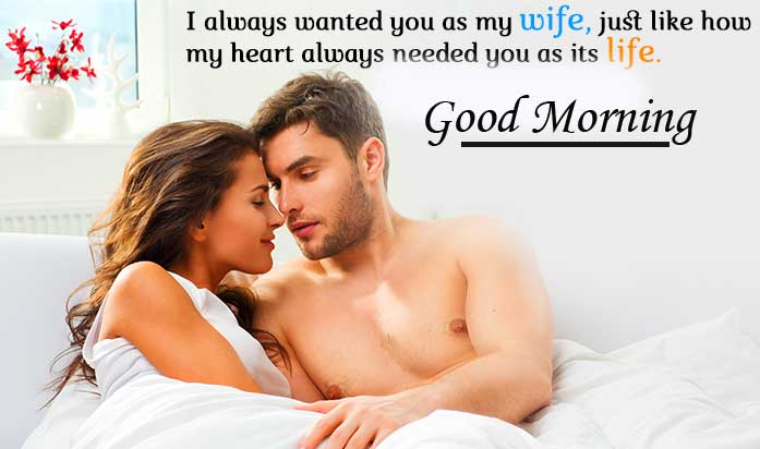 Romantic Quote with Good Morning Wishing Copy