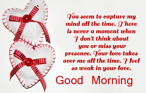 Romantic Quoted Good Morning Image