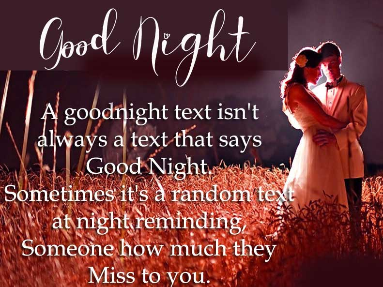 Romantic Thought with Good Night Wish