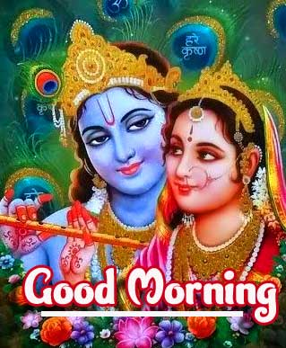 Romantic and Lovely Radha and Krishna Image