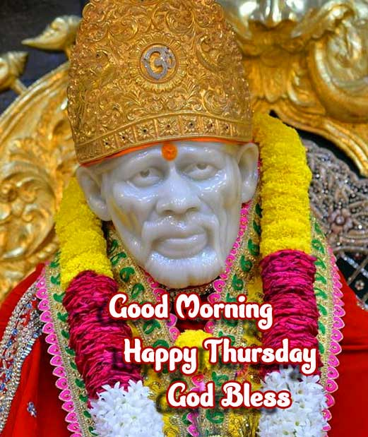Sai Baba Good Morning with Happy THURSDAY image