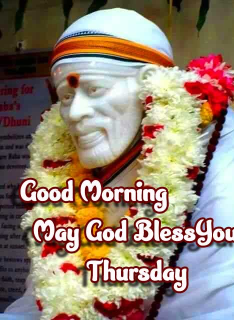 Sai Baba Quoted Good Morning Wishing and Happy Thursday Image