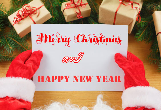 Santa Claus Merry Christmas and Happy New Year Image