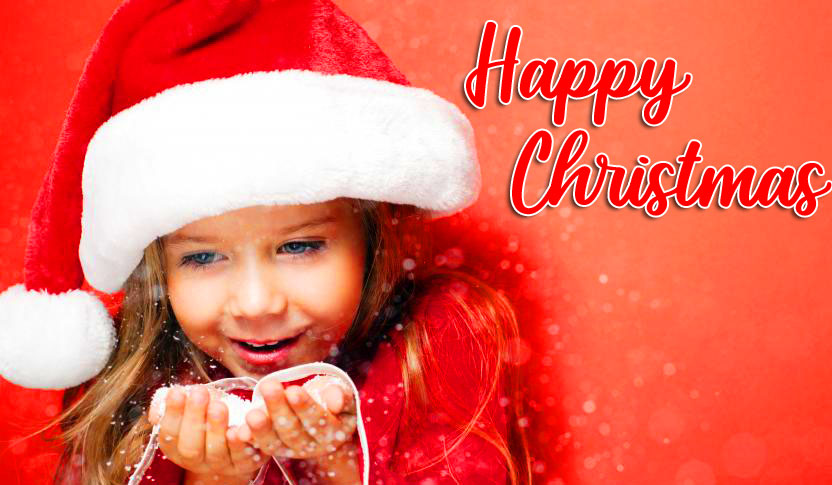 Santa Girl Happy Christmas Image