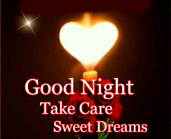 Shining Heart with Good Night Wishing