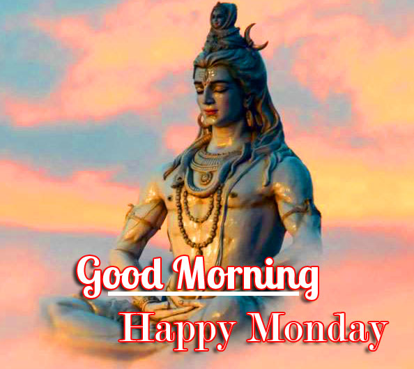 Shiva Good Morning Happy Monday Image