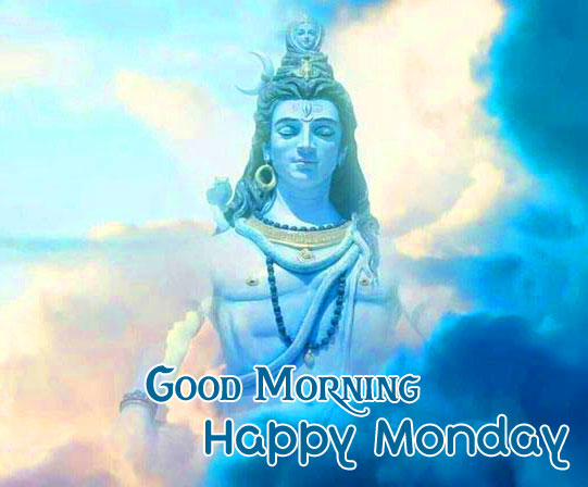Shiva Good Morning Happy Monday Image for Download