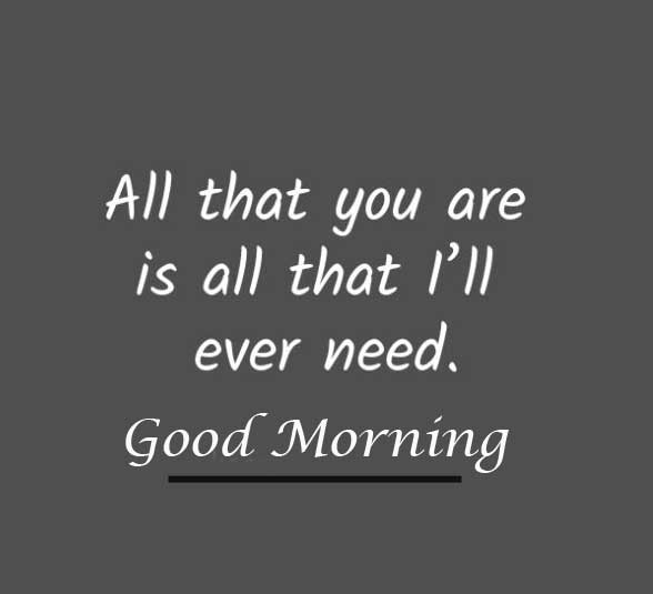 Short Love Quote with Good Morning Wishing