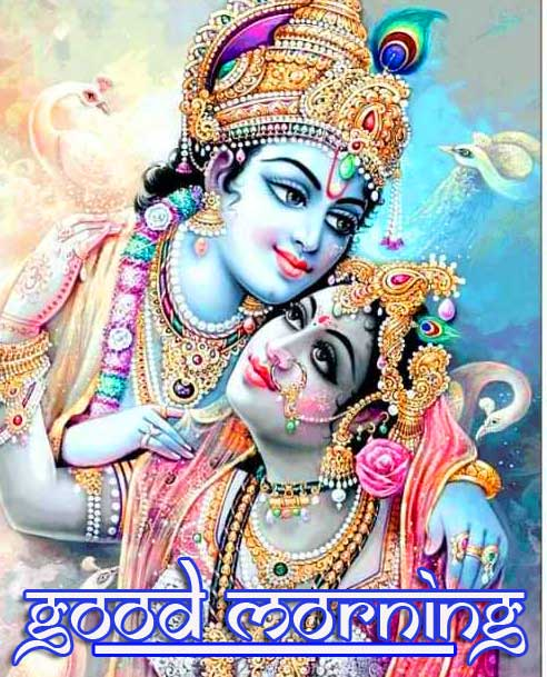 Shri Krishna and Radha Good Morning Image