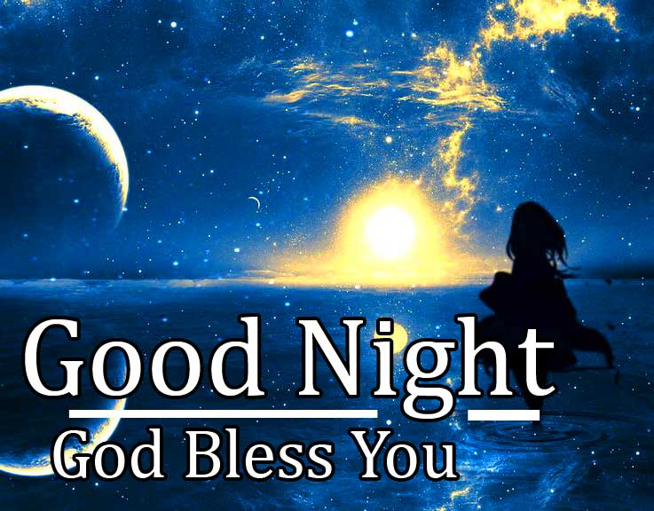 Sky Full of Stars with Good Night Message