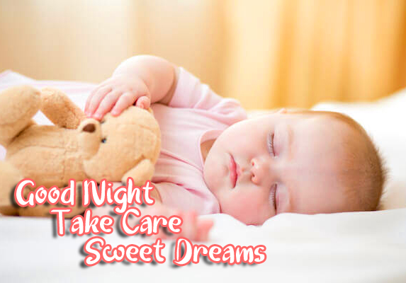 Sleeping Baby Picture with Good Night Wishing