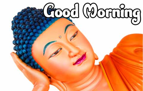 Sleeping Buddha with Good Morning Image