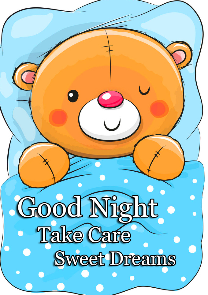 Sleeping Teddy Good Night Image