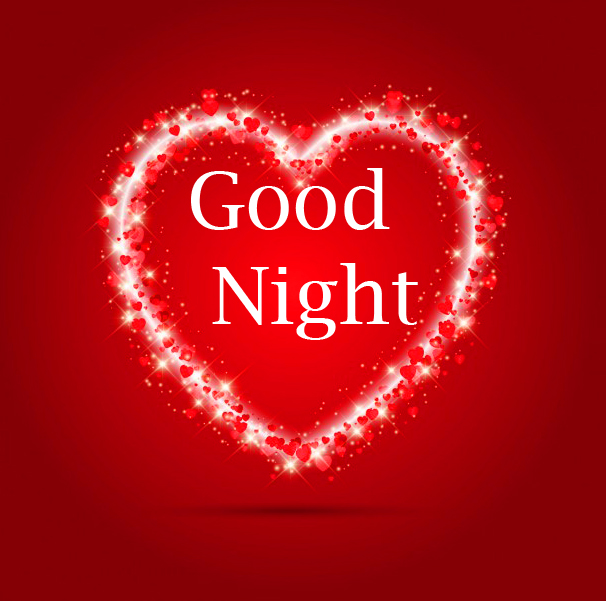 Sparkling Heart with Good Night Wishing